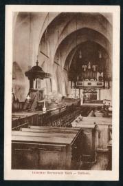 DALFSEN, Interieur Hervormde Kerk. Gelopen kaart.