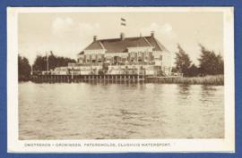 PATERSWOLDE, Omstreken Groningen. Paterswolde, Clubhuis Wwatersport. Ongelopen kaart.