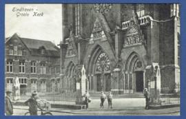 EINDHOVEN, Groote Kerk. Gelopen kaart.