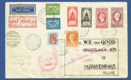ZEPPELIN COVER CONFERENCE DE LA HAYE EN LUFTSCHIFF GRAF ZEPPELIN WELTRUNDFAHRT 1929. MENGFRANKERING O.A. JUBILEUM 1913 EN 1923