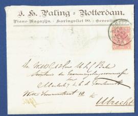 Firma vouwbrief ROTTERDAM 1902 van ROTTERDAM naar UTRECHT.
