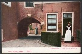 FERWERD, Het Oude Poortje. Ongelopen kaart.