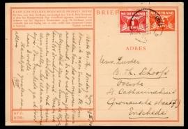 G - Briefkaart Prinses Irene met bijfrankering van NIJMEGEN naar Enschede.