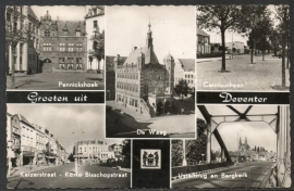 DEVENTER, Groeten uit Deventer. Gelopen kaart.