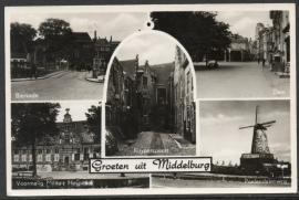 MIDDELBURG, Groeten uit Middelburg. Gelopen kaart.