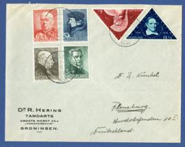Firma cover GRONINGEN 1936 van GRONINGEN naar Flensburg, Duitsland.