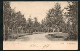 WORMERVEER, Park. Gelopen kaart.