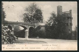 NIJMEGEN, Belvedere en Viaduct. Gelopen kaart.
