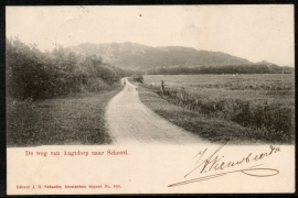 AAGTDORP / SCHOORL. De weg van Aagtdorp naar Schoorl. Gelopen kaart.