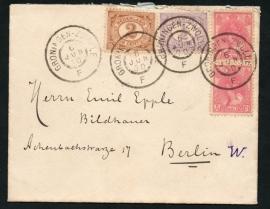 Cover met grootrondstempel GRONINGEN - ZWOLLE naar Duitsland.
