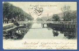 Ansichtkaart Den Helder met grootrondstempel DE WAAL en grootrondstempel TEXEL.