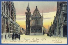 KAMPEN, Oude Stadhuis. Gelopen kaart.