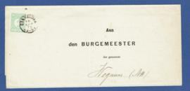 Omslag met 2-letterstempel DEN HELDER naar Wognum.