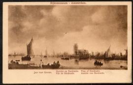 DORDRECHT, Gezicht op Dordrecht van Jan van Goyen. Rijksmuseum Amsterdam. Gelopen kaart.