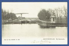 MONNIKENDAM, Bij Katwoude. Gelopen kaart.