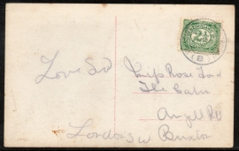 Briefkaart met kortebalk bootstempel VLISSINGEN - QUEENBOROUGH naar Londen.
