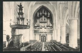 BOLSWARD, Orgel en Preekstoel  Martinikerk. Ongelopen kaart.