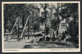 PUTTEN, Kinderspeelplaats Vacantie-oord C.N.V. Ongelopen kaart.