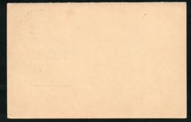 G - Briefkaart antwoord betaald met censuur en speciaal stempel watersnoodramp: INTERNATIONALE SOLIDARITAT, HOLLANDHILFE 27.2.53.