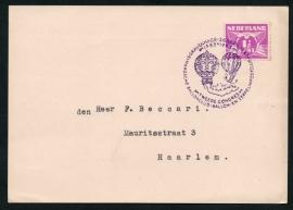 's GRAVENHAGE, Ballonclub-Ballon-en Zeppelinpostclub. Tweede congres. 26 April 1943. Sic itur ad astra.