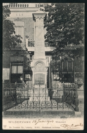 WILDERVANK, Monument. Gelopen kaart.