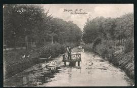 BERGEN, N.H. De Zwemvijver. Gelopen kaart.