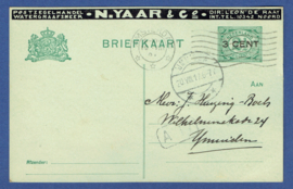 Particulier postwaardestuk, POSTZEGELHANDEL WATERGRAAFSMEER N. YAAR