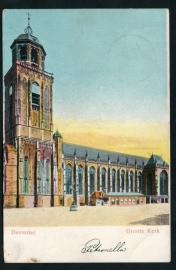 DEVENTER, Groote Kerk. Gelopen kaart.