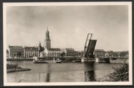 KAMPEN, IJsselbrug. Ongelopen kaart.