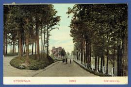 STEENWIJK, Stationsweg. Gelopen kaart.