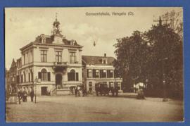 HENGELO (O), Gemeentehuis. Gelopen kaart.