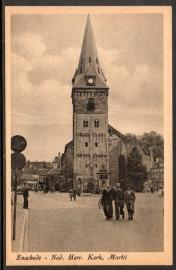 ENSCHEDE, Ned. Herv. Kerk, Markt. Ongelopen kaart.