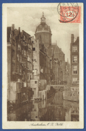 AMSTERDAM, O.Z. Kolk. Gelopen kaart.