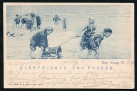 Briefkaart Vrouwen Tentoonstelling 1898, DEN HAAG, Ausstellung Fur Frauen.