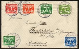 Cover met kortebalkstempel: UTRECHT-STATION naar Duitsland.