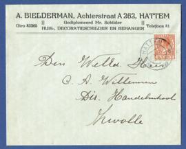 Firma cover HATTEM 1930 van HATTEM naar ZWOLLE.