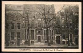 AMSTERDAM, Keizersgracht het huis met de Hoofden. Gelopen kaart.