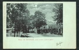LOCHEM, Hotel de Dollehoed. vanaf Lochem komend gezien. Gelopen kaart.