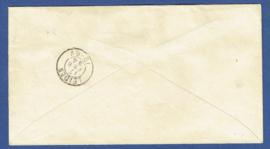 G - Cover met bijfrankering van AMSTERDAM met kleinrondstempel AMSTERDAM 11 naar LEIDEN. Aangetekend.