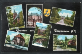 DIEPENHEIM, Groeten uit Diepenheim (O). Ongelopen kaart.