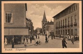 ENSCHEDE, Langestraat. Ongelopen kaart.