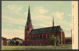 ENSCHEDE, Nieuwe R.K. Kerk. Ongelopen kaart.
