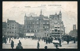 AMSTERDAM, Dam. Gelopen kaart.