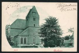 BATHMEN, Kerk. Gelopen kaart.