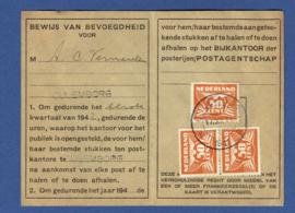 Postbuskaartje CULEMBORG met nvph 391.