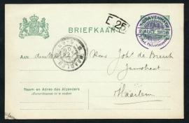 's GRAVENHAGE , 1e Ned. Philatelistendag. 2 Augustus 1906.
