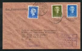 EERSTE STRATOCRUISERVLUCHT AMSTERDAM-NEW YORK PER A.O.A. 13 JANUARI 1950.