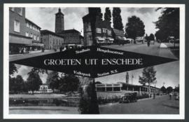 ENSCHEDE, Groeten uit Enschede. Ongelopen kaart.
