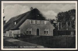OMMEN, Kampeerboerderij De Stekkenkamp. Gelopen kaart.
