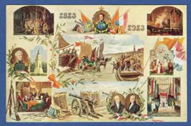 Gedenkkaart van Nederlands onafhankelijkheid. 1813 - 1913.